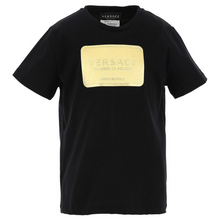 Load image into Gallery viewer, Black & Gold Badge T-Shirt