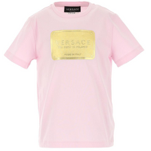 Load image into Gallery viewer, Pink & Gold Badge T-Shirt