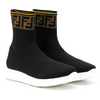 Black FF Logo Sock Trainer