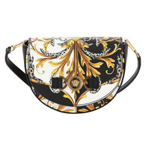 Load image into Gallery viewer, Black & Gold Patent Handbag