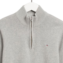 Load image into Gallery viewer, Grey Knitted Half Zip Jumper