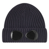 Navy Knitted Goggle Beanie