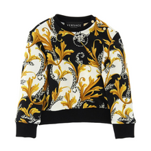 Load image into Gallery viewer, Black & Gold Sweat Top