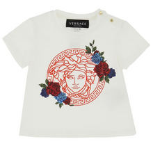 Load image into Gallery viewer, Ivory Medusa & Roses T-Shirt