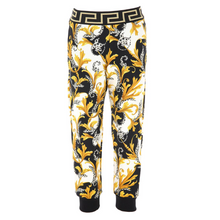 Load image into Gallery viewer, Black Baroque Sweat Bottoms