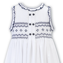 Load image into Gallery viewer, White Smocked Dress