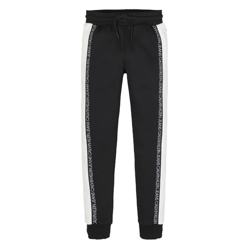 Black Colour Block Sweat Pants