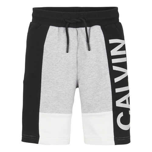 Black & Grey Logo Sweat Shorts