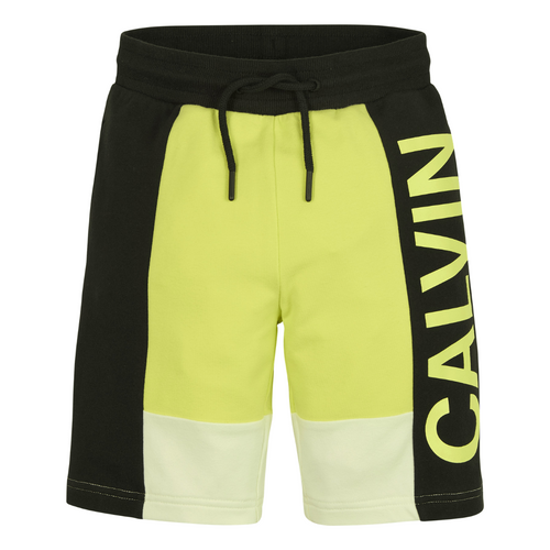 Black & Lime Logo Sweat Shorts