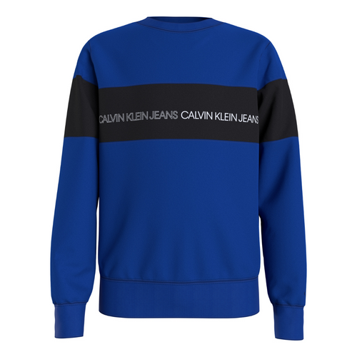 Blue Colour Block Sweat Top