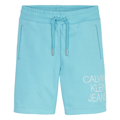 Blue Logo Sweat Shorts