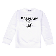 Load image into Gallery viewer, White Balmain Logo Sweat Top
