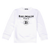 White Balmain Logo Sweat Top