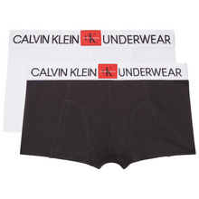 Load image into Gallery viewer, Boys 2-Pack White & Black Boxers