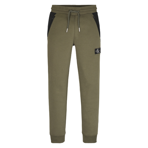 Khaki Green Fleeced Sweat Pants