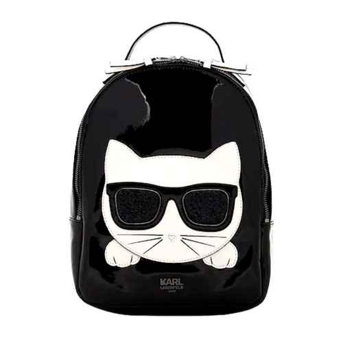 Black Patent Cat Backpack