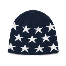 Load image into Gallery viewer, Navy Star Hat