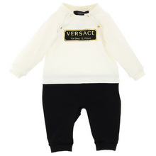 Load image into Gallery viewer, Ivory & Black Babysuit