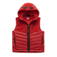 Load image into Gallery viewer, Cherry Red Goggle & Shell Gilet
