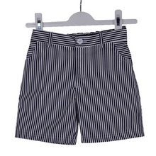Load image into Gallery viewer, Navy Striped Sailor Shorts