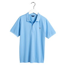 Load image into Gallery viewer, Blue Logo Polo Shirt