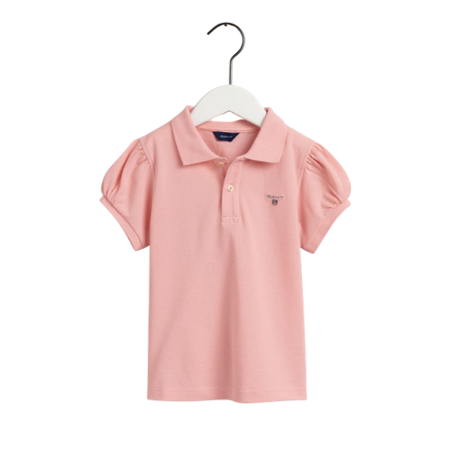 Pink Puff Sleeved Polo