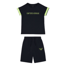 Load image into Gallery viewer, Navy & Neon Shorts Set