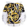 Black & Gold Zip Up Hoodie