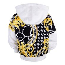 Load image into Gallery viewer, Black & Gold Zip Up Hoodie