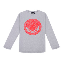 Load image into Gallery viewer, Grey Long Sleeve Rubber Logo Top