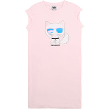 Load image into Gallery viewer, Pink Choupette T-Shirt Dress