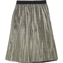 Load image into Gallery viewer, Gold Metallic Look Midi Skirt