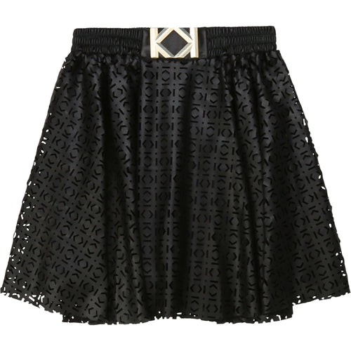 Black Laser Cut Skirt