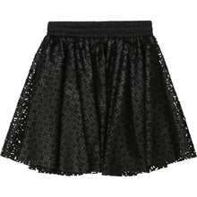 Load image into Gallery viewer, Black Laser Cut Skirt