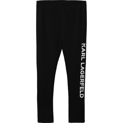 Black Logo Karl Leggings