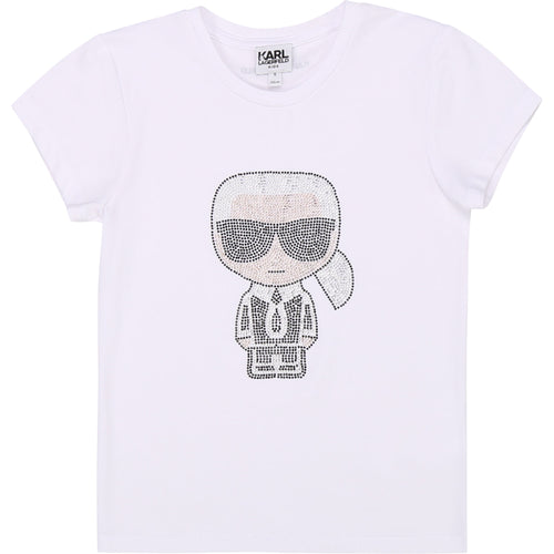 White Embellished Cartoon T-Shirt