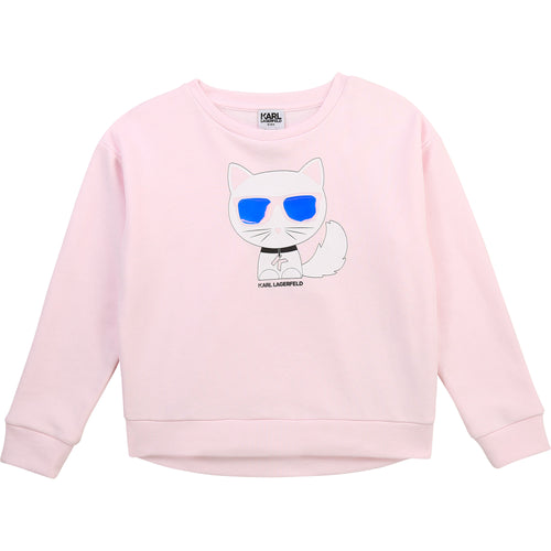 Pale Pink Choupette Sweat Top