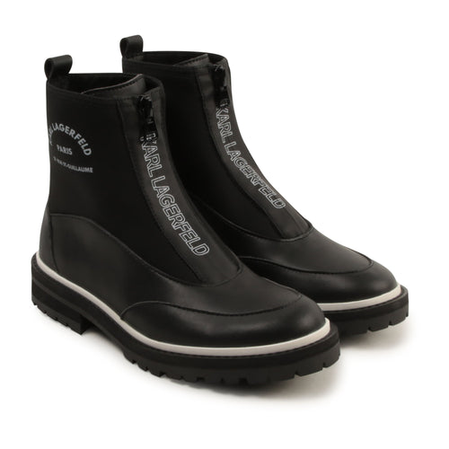 Black Ankle Logo Boots
