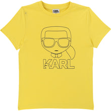 Load image into Gallery viewer, Yellow Cartoon Karl T-Shirt