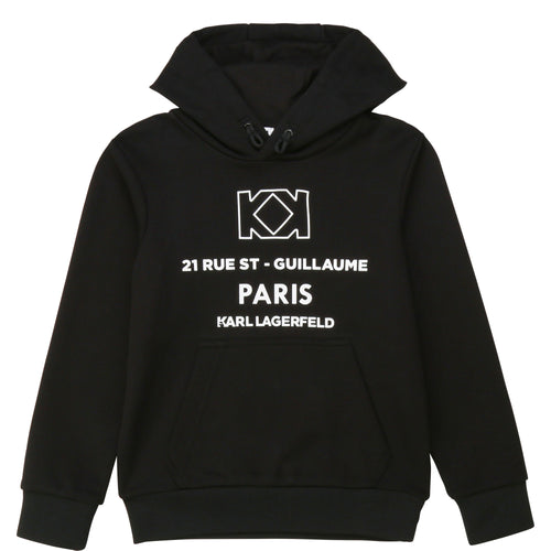 Black Paris Sweat Hoodie