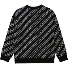 Load image into Gallery viewer, Black Tape Print Sweat Top