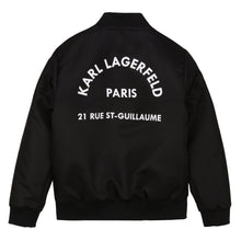 Load image into Gallery viewer, Black Logo Bomber Jacket