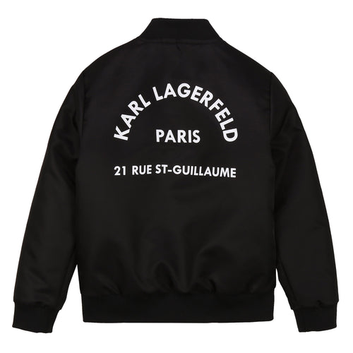 Black Logo Bomber Jacket