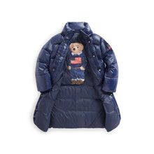 Load image into Gallery viewer, Girls Long Down Puffer Coat