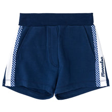 Load image into Gallery viewer, Monnalisa Sale Navy Check Sweat Shorts