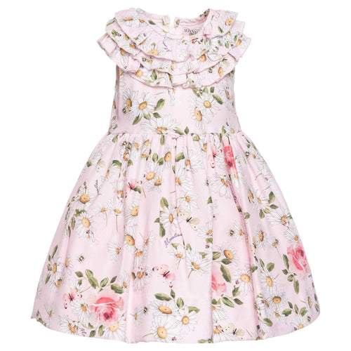 Monnalisa Sale Pink Daisy Dress