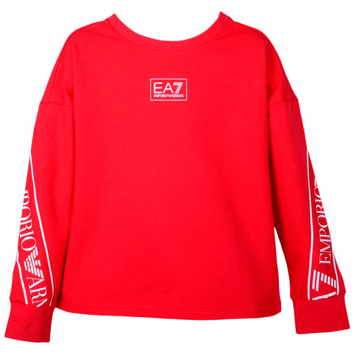 Girls Red EA7 Sweat Top