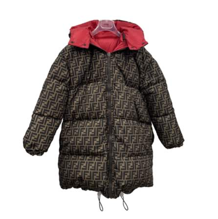 Brown & Red Reversible FF Coat