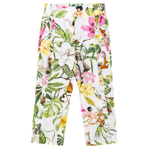 Monnalisa Sale White Jungle Book Trousers