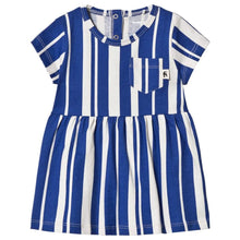 Load image into Gallery viewer, Mini Rodini Girls Sale Blue & White Stripe Dress